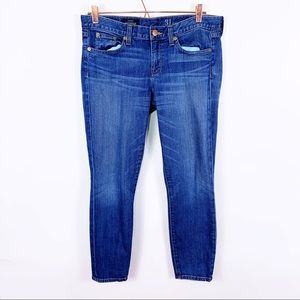 J. Crew Toothpick Ankle Jean in Lewistown Wash 31